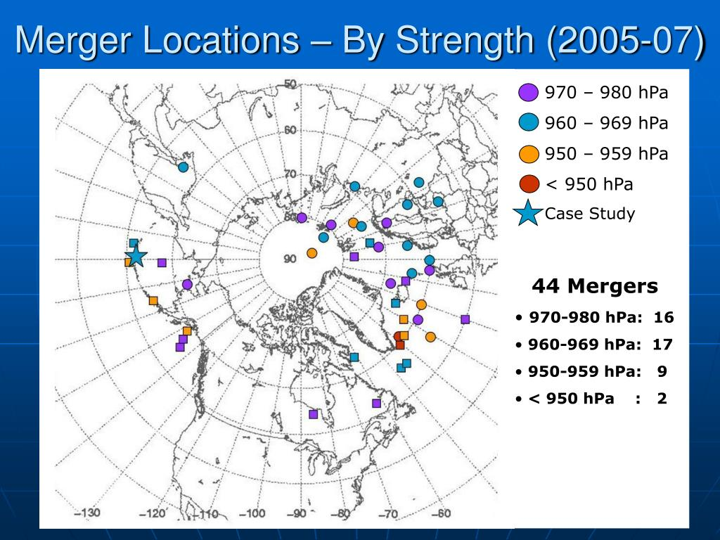 Merger Locations – By Strength (2005-07)