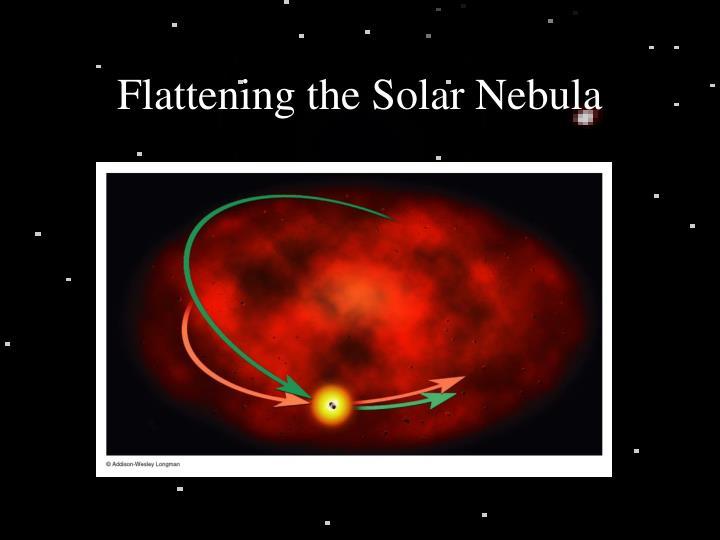 Flattening the solar nebula