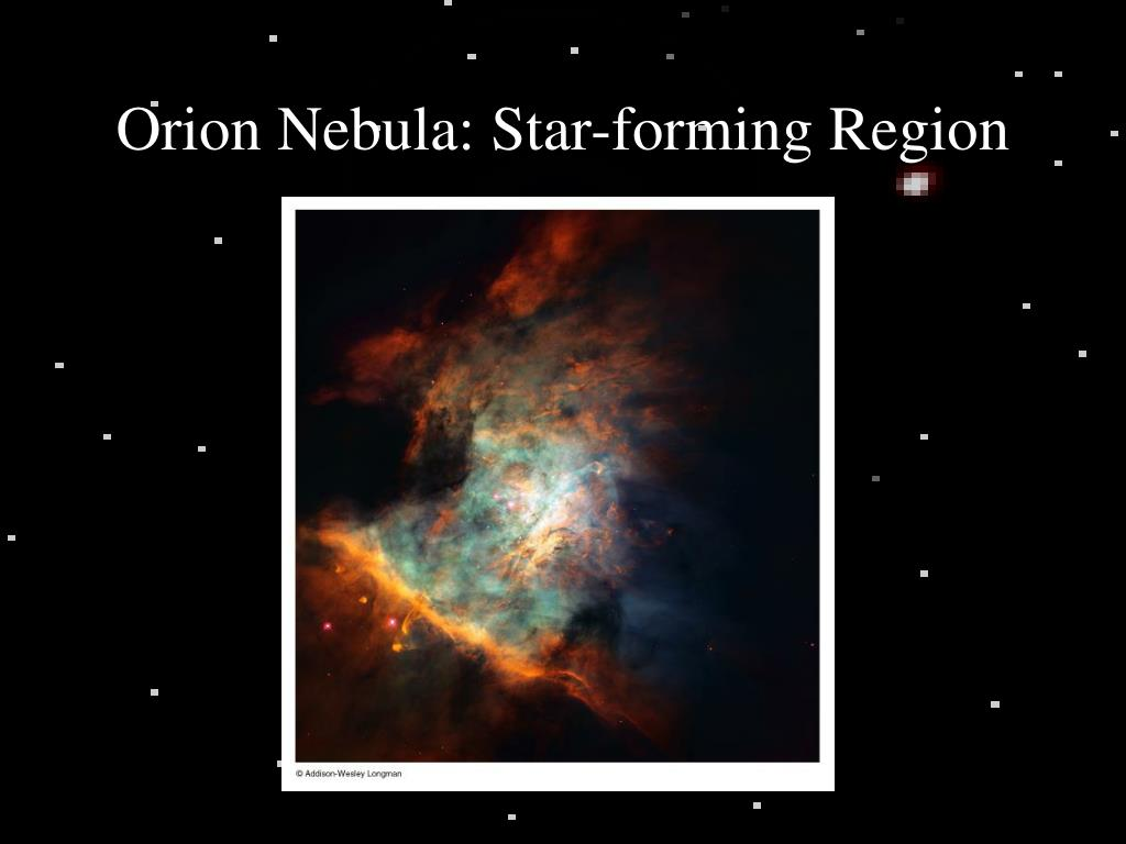orion nebula star forming region l.