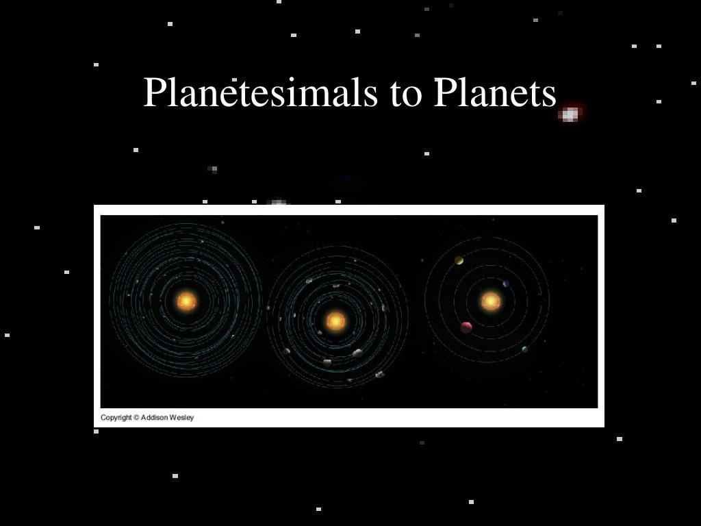Planetesimals to Planets