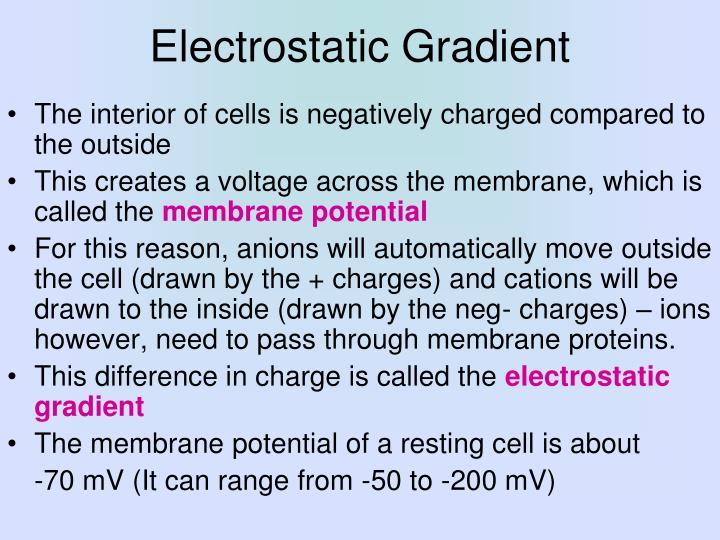 Electrostatic Gradient