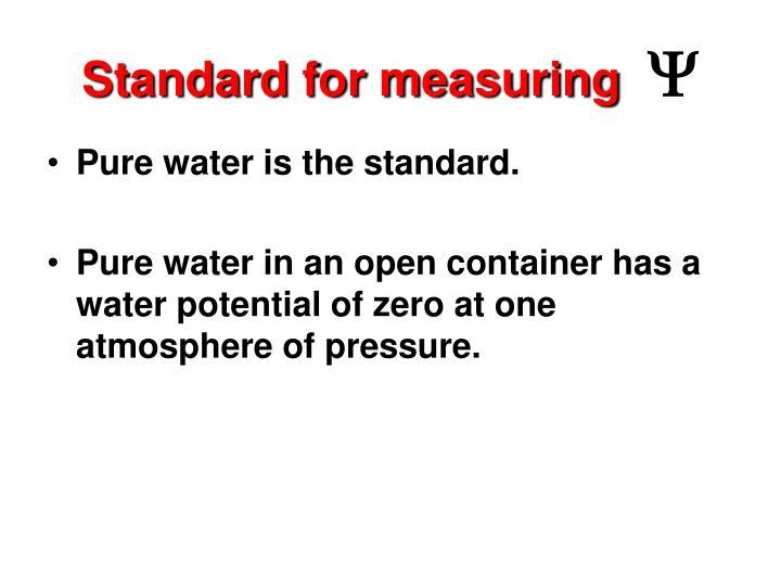 Standard for measuring