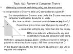 topic 1 a review of consumer theory10