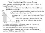topic 1 a review of consumer theory6