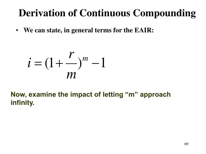 Derivation of Continuous Compounding