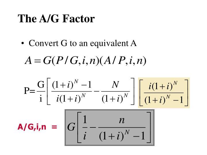 The A/G Factor