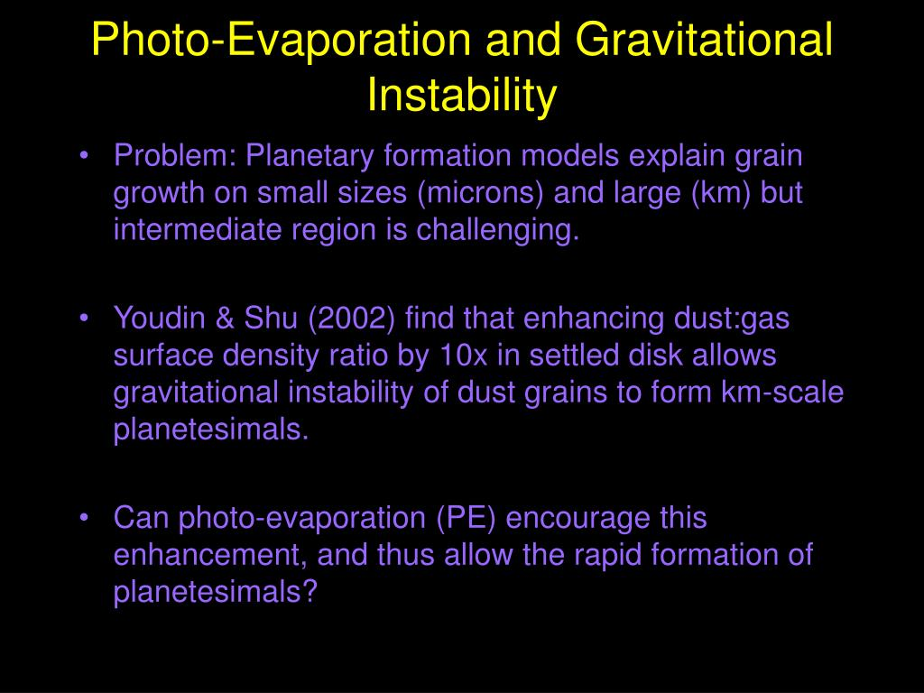 Photo-Evaporation and Gravitational Instability
