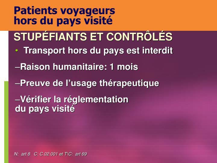 Patients voyageurs