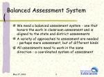 balanced assessment system