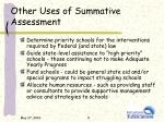 other uses of summative assessment