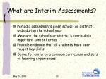 what are interim assessments