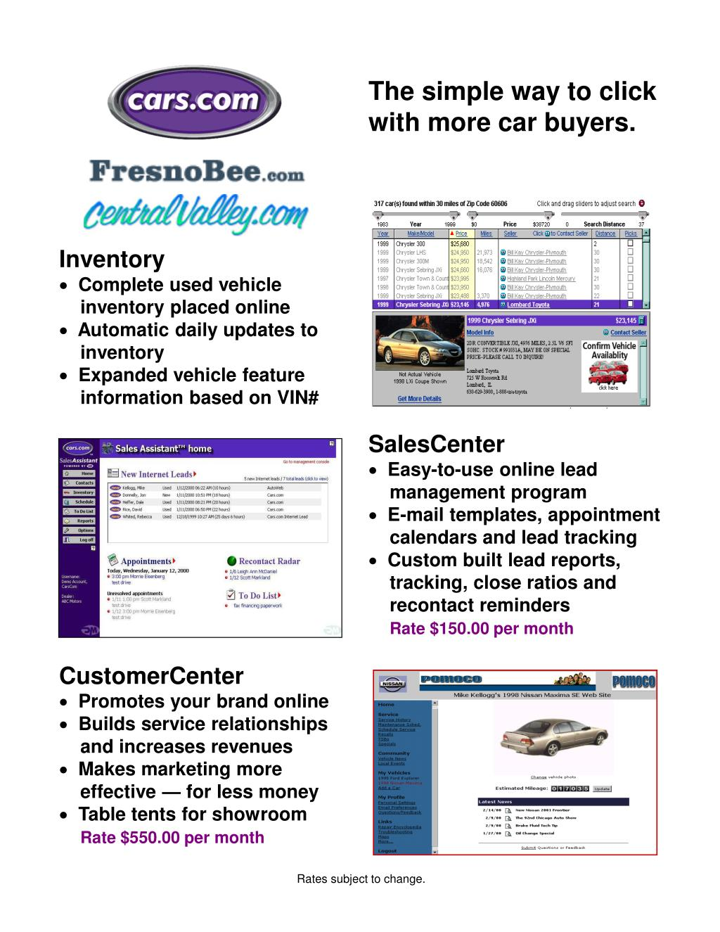 The simple way to click with more car buyers.