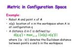 metric in configuration space1