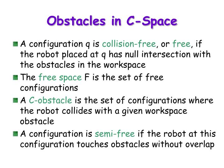 Obstacles in C-Space