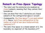 remark on free space topology