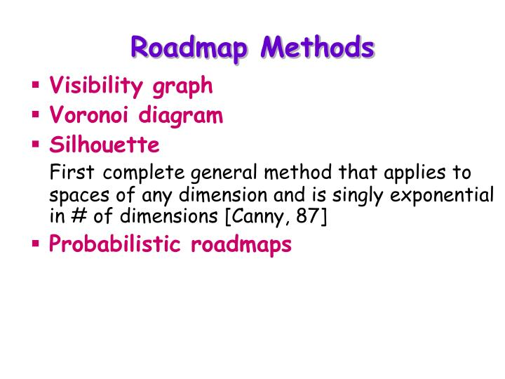 Roadmap Methods