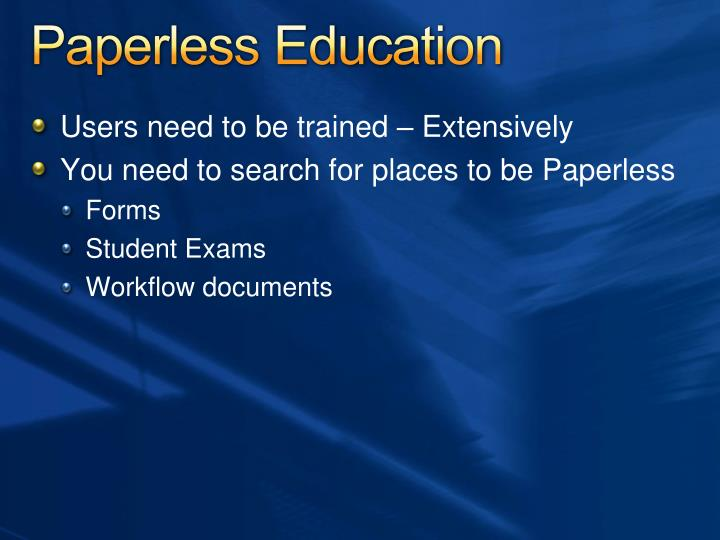 Paperless Education