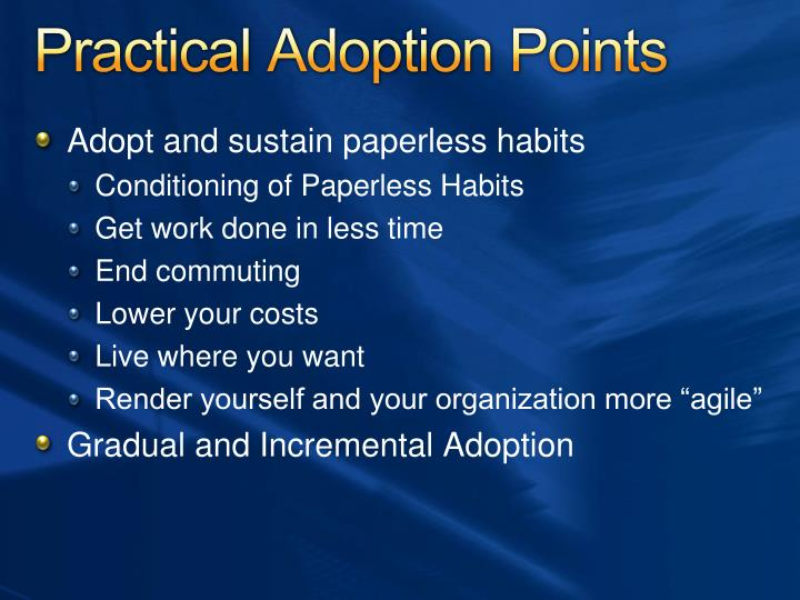 Practical Adoption Points