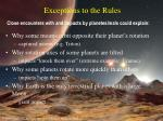 exceptions to the rules24