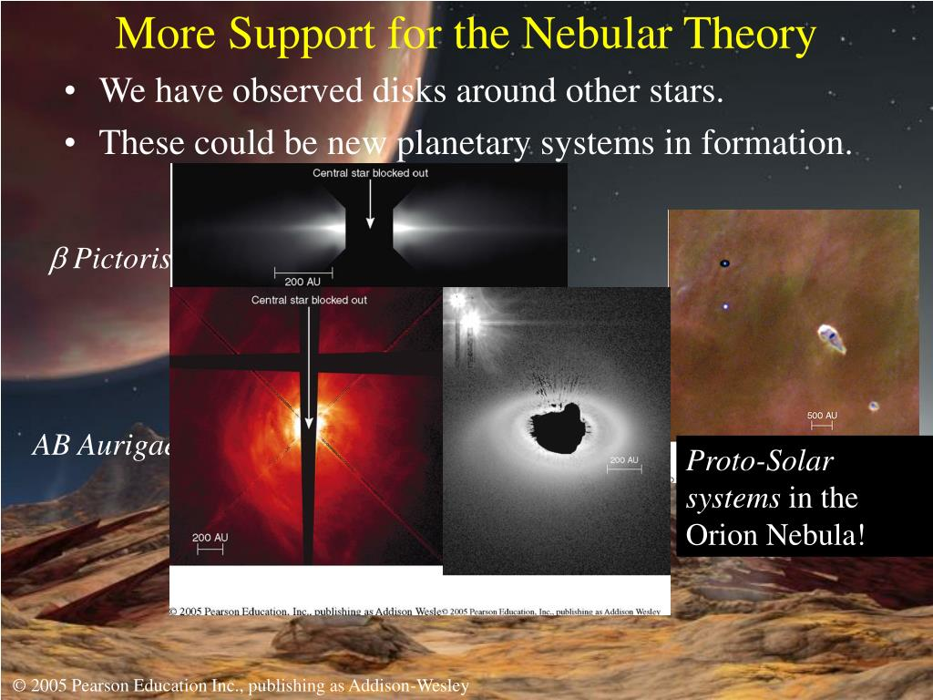 More Support for the Nebular Theory