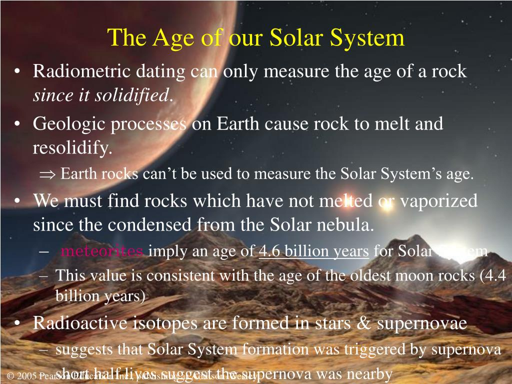 The Age of our Solar System