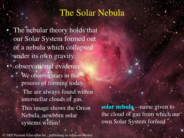 The solar nebula