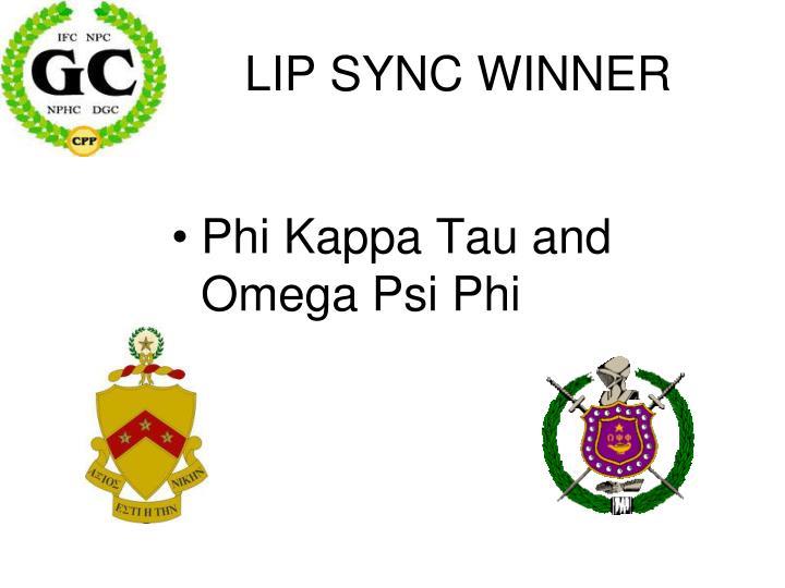 LIP SYNC WINNER