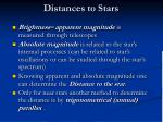 distances to stars