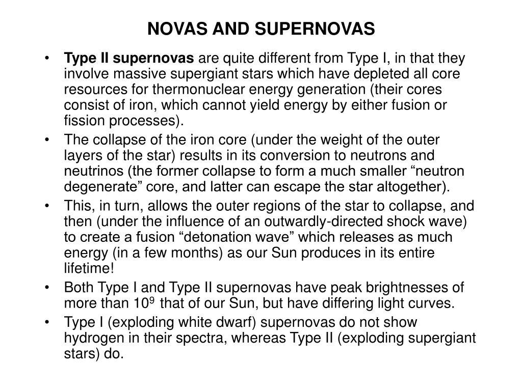 NOVAS AND SUPERNOVAS