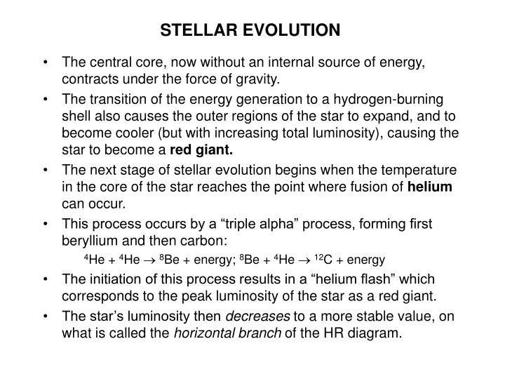 Stellar evolution3