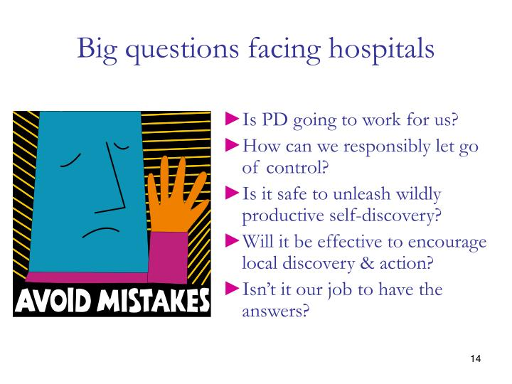 Big questions facing hospitals