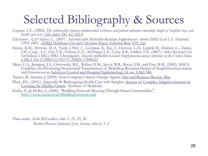 Selected Bibliography & Sources