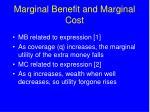 marginal benefit and marginal cost