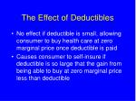the effect of deductibles
