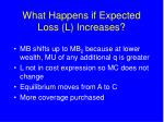 what happens if expected loss l increases
