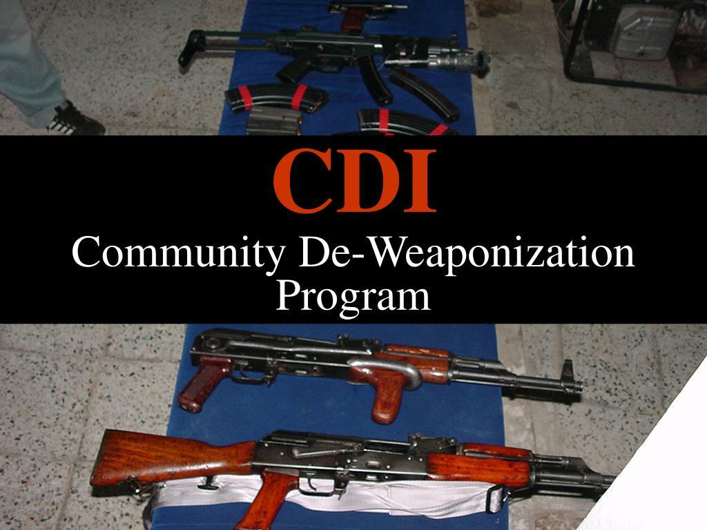 cdi community de weaponization program l.