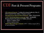 cdi past present programs