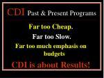 cdi past present programs15