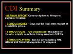 cdi summary