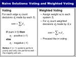 na ve solutions voting and weighted voting