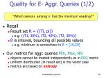 quality for e aggr queries 1 2