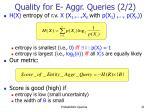 quality for e aggr queries 2 2