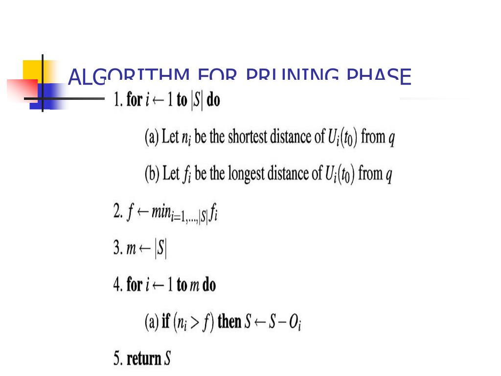 ALGORITHM FOR PRUNING PHASE