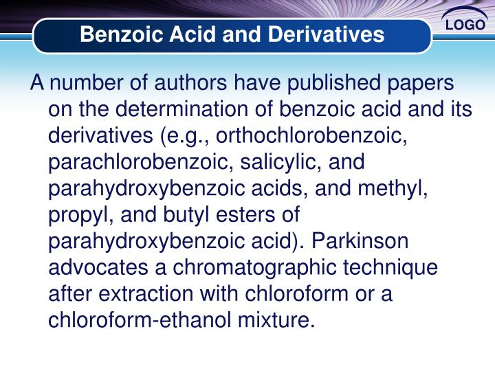 Benzoic Acid and Derivatives
