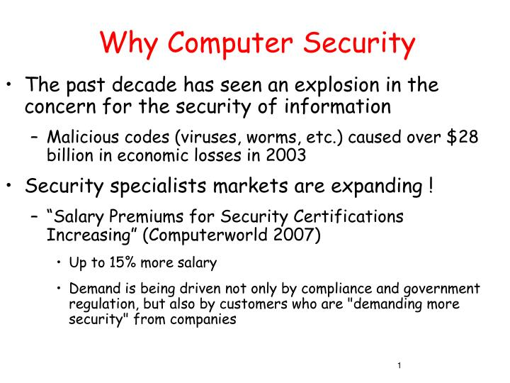why computer security n.