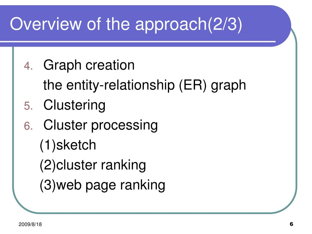 Overview of the approach(2/3)