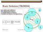 basic solution tkde04