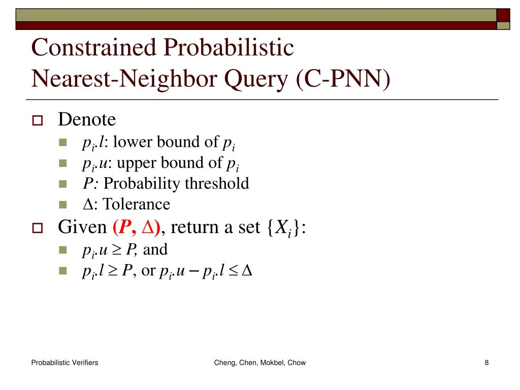 Constrained Probabilistic
