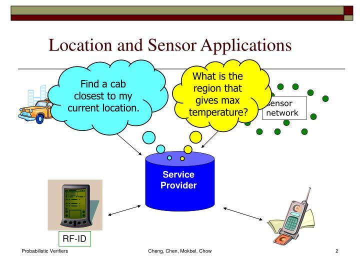 Location and sensor applications