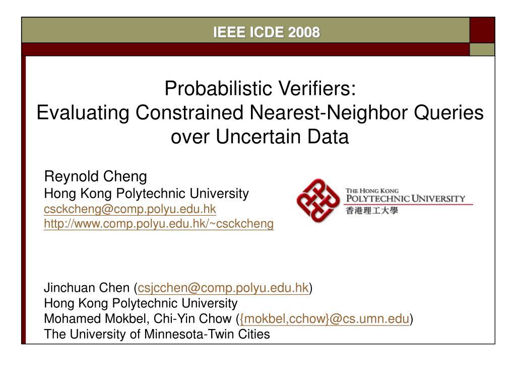 IEEE ICDE 2008